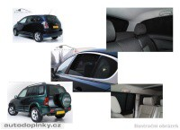 Privacy Shades přesné protisluneční clony - 6 dílná sada Dodge Journey 5dv. -- od roku výroby 2008-